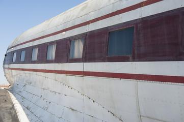 Closeup of an old aircraft