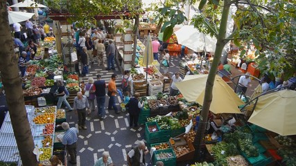 Old fruit market on October in Funchal.