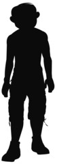 man in cargo pants in silhouette