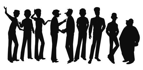 large group of men talking