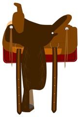 saddle with stitching