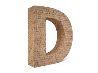 Brick Letter D