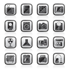 home appliances and electronics icons - vector icon set
