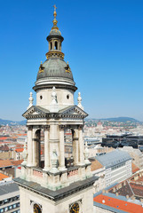 Hungary. Top-view of Budapest