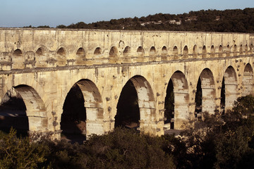 Old bridge in France - the beautiful Pont du Gard