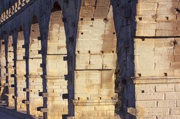 Old bridge details - Pont Du Gard in France