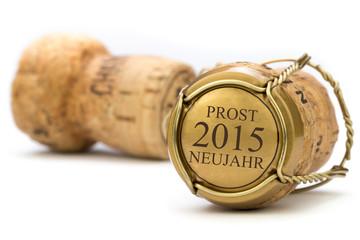 Champagner Korken - Prost Neujahr 2015