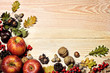 canvas print picture - autumn background