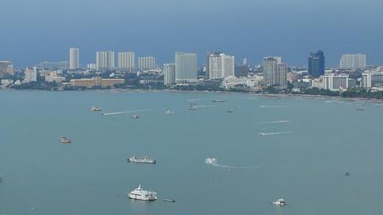 Pattaya sea beach city Thailand.