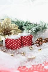 mesa de navidad con adornos