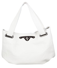 female white leather bag isolated