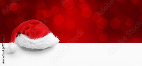 canvas print picture Weihnachtsmütze / Hintergrund