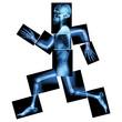 Aerobic Exercise (human bone is running)