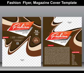 Fashion flyer, magazine cover