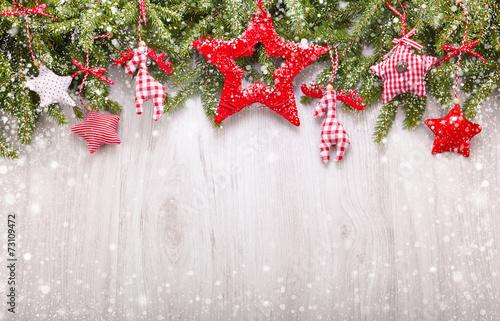 Leinwandbild Motiv Christmas decorations