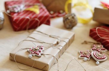 christmas gift box and decoration