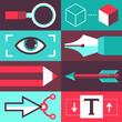 Vector graphic design concept