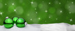 Christmas background - Christmas Ornament green - Snow