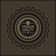 Vector premium quality badge