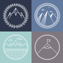 Vector mountain logos