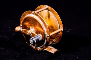 One Vintage Old Metal Fishing Reel