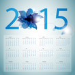 2015 Calendar. Vector illustration with floral elements