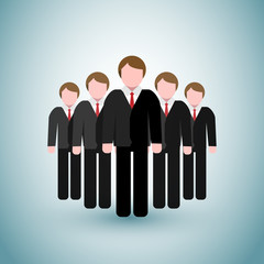 Leader Business Men Icons