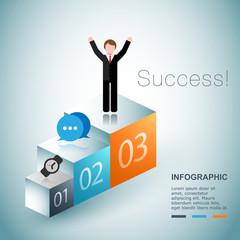 Business succes concept design