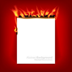 Burning paper.