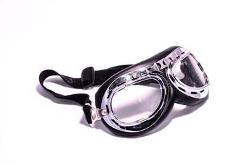 Black Retro Vintage Leathern Goggles