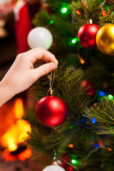 Decorating Christmas Tree.