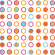 Seamless retro rounded pattern