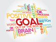 Goal project management vector concept word cloud