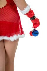 sexy Hintern und Weihnachtsbaumkugeln