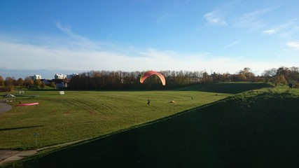 Paragliding in the Park