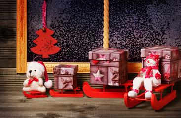 Weihnachtsgeschenke, Schlittenfahrt