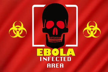 Warning Flag - Ebola Outbreak - Infected Area