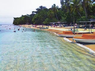 Pacific ocean island beach