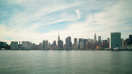 day panoramic view on manhattan buildings 4k time lapse from nyc