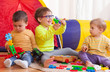 children playing together at home - 73114024