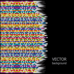 Vector background is of colorful squares.
