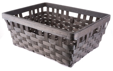 empty wickered basket