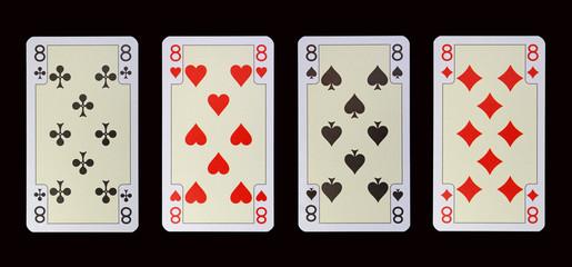 Spielkarten der Ladys - ACHT