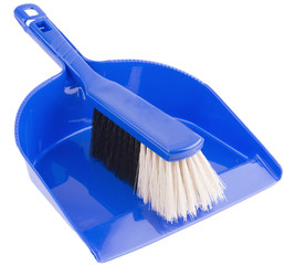 Cleaning set of dust-pan and brush
