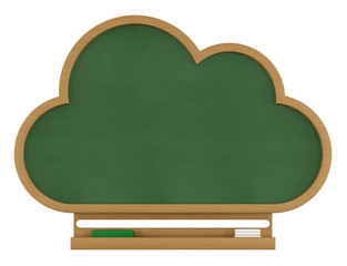 Cloud chalkboard on white