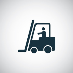 forklift in operation icon