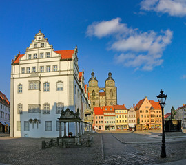 The Main Square of Luther City Wittenberg in Germany, UNESCO