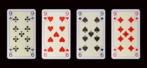Spielkarten der Ladys - NEUN