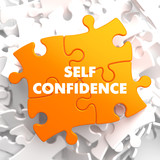 Self Confidence on Yellow Puzzle. poster