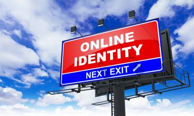 Online Identity on Red Billboard.